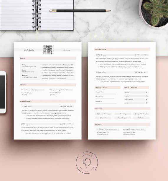 #Resume #Template | Instant #Download | #Downloadable #Resume | #CV #Template