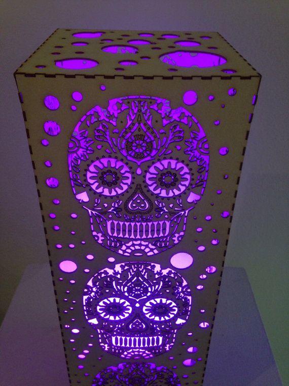 Sugar Skull Lamp by DancingAnts on Etsy, $150.00....I so want