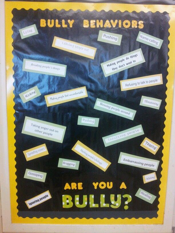 Bullying bulletin board