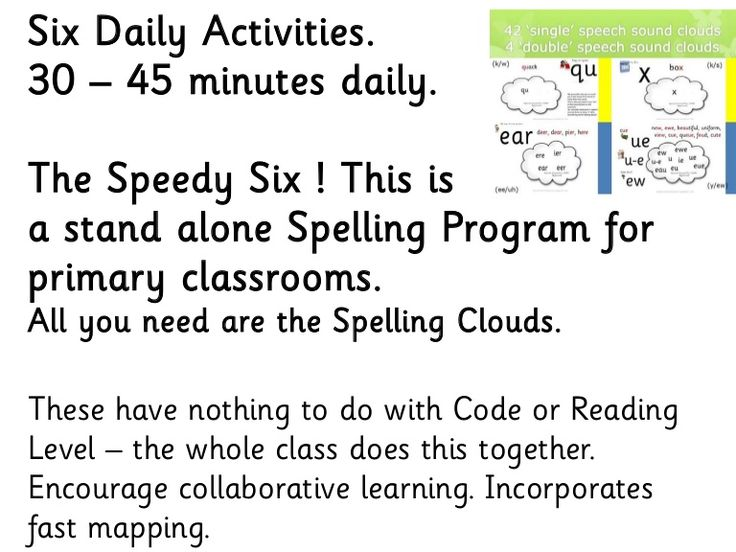Stand alone Spelling Program that costs $2 per student per year. (However we recommend that every child has their own spelling keyring, to use in all other sub…