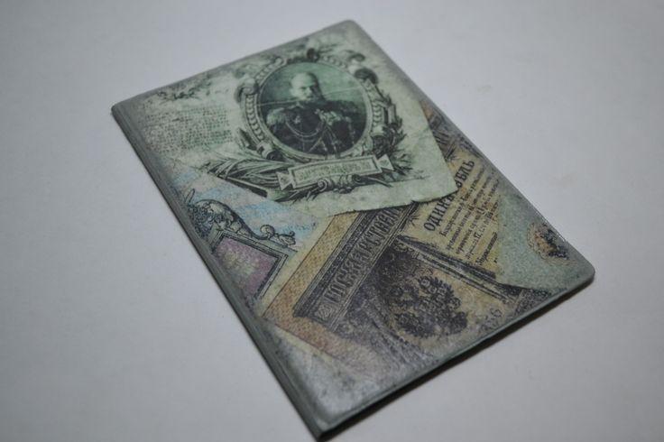 декупаж , обложка на паспорт