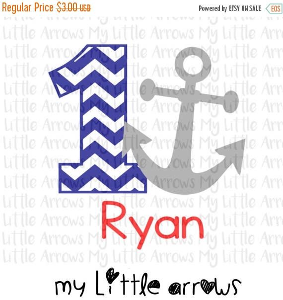 60% OFF SALE - Chevron 1 anchor birthday shirt SVG, Dxf, Eps, png Files for Cutting Machines Cameo or Cricut // anchor svg - nautical birthd by MyLittleArrows on Etsy https://www.etsy.com/listing/467514087/60-off-sale-chevron-1-anchor-birthday