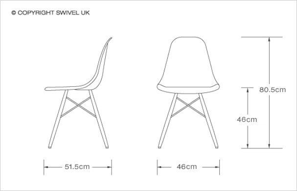Charles Eames Style DSW Dining Chair in Fibreglass SWIVELUK - designer liegesessel liegenden frau