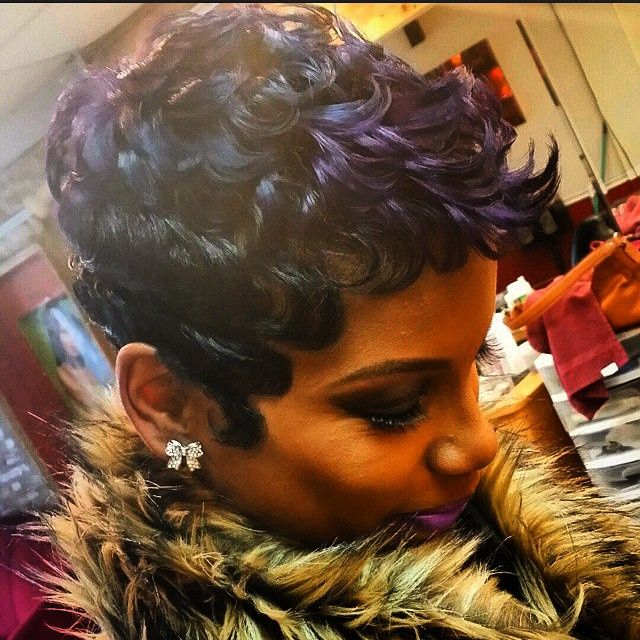 STYLIST FEATURE  Love this #pixiecut done by #ChicagoStylist @Shaemzhairnurse✂️ GORGEOUS❤️ #VoiceOfHair ========================= Go to VoiceOfHair.com ========================= Find hairstyles and hair tips! =========================