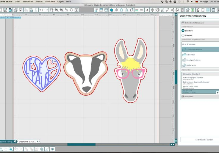 Silhouette Studio - Schnitteinstellungen für Print and Cut Tutorial auf Deutsch
