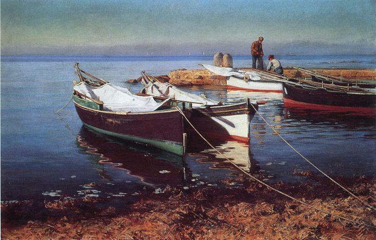 Elin Kleopatra Danielson-Gambogi (1861-1919), Fishing Boats,1903
