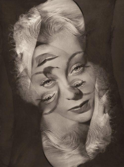Philippe Halsman: Expérimentation pour un portrait de femme, c.1931.