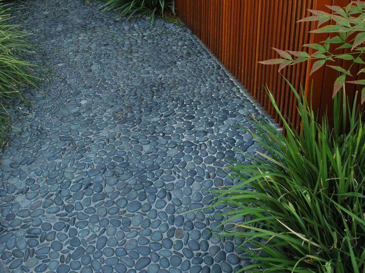 Eco Outdoor Anvil pebbles laid insitu, Eckersley Garden Architecture.