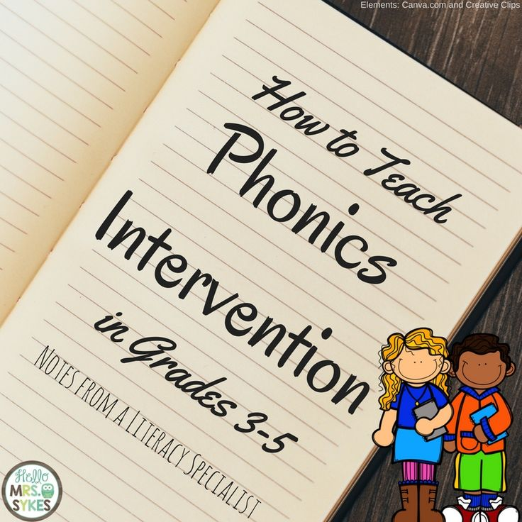 How to teach phonics interventions to struggling third, fourth, and fifth grade readers