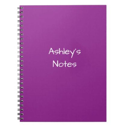 Personalized Purple Name Notebook - girly gift gifts ideas cyo diy special unique