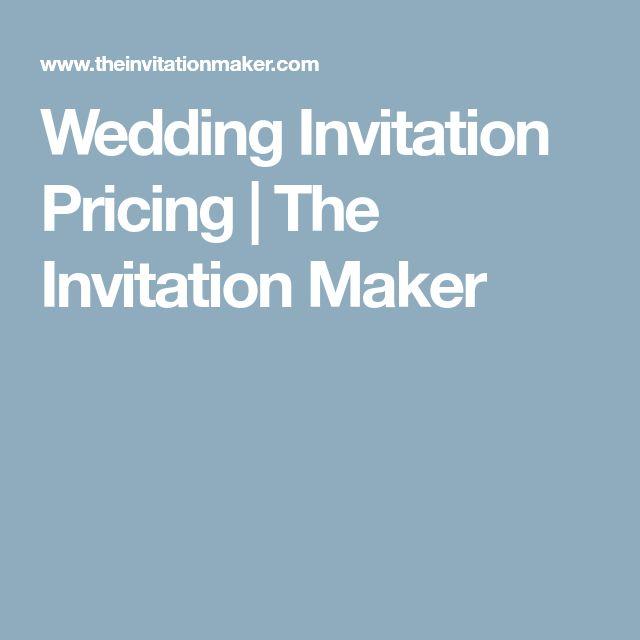 Wedding Invitation Pricing   The Invitation Maker