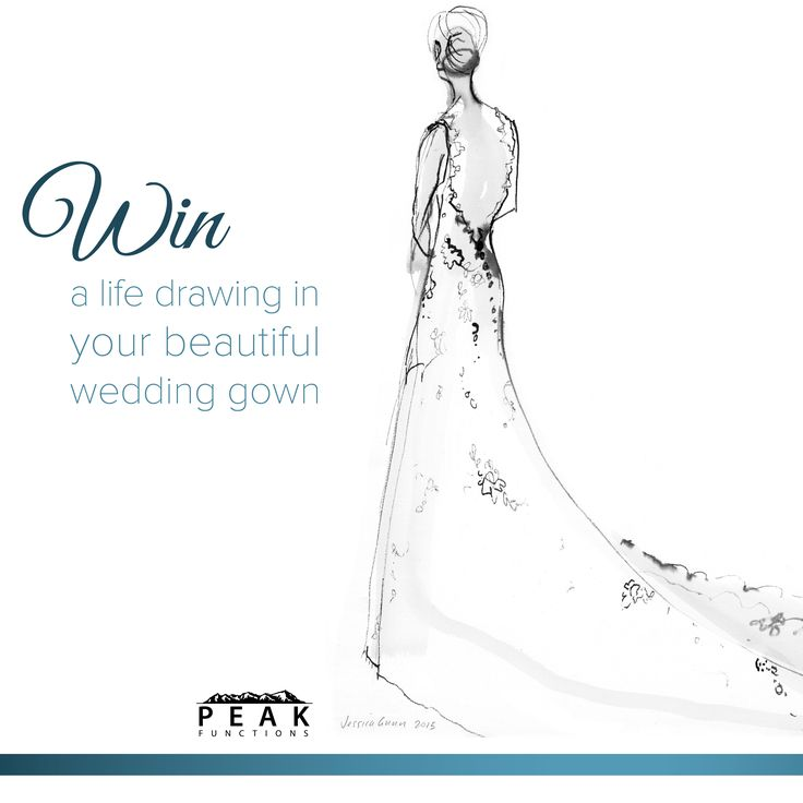 COMPETITION TIME! To be in with a chance to win a gorgeous life drawing in your wedding dress by the extremely talented artist @JessicaGunn, simply nominate your favourite bride(s)-to-be by tagging them in a comment on our facebook competition post (https://www.facebook.com/peakfunctions/photos/a.536130096457628.1073741828.532747543462550/929631533774147/?type=3&theater) and don't forget to tag yourself if you want to be in the draw to win too! GOOD LUCK!