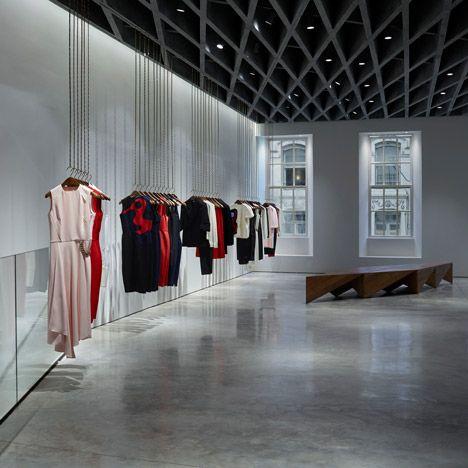 Farshid Moussavi designs London shop interior for Victoria Beckham