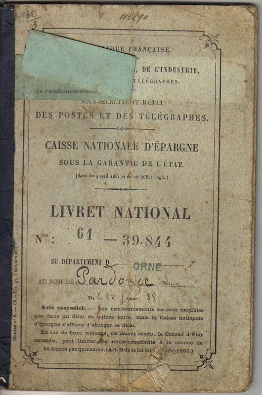 caisse nationale d'épargne : livret national
