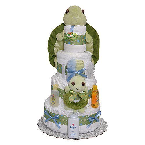 Mr Turtle Diaper Cake 4 Tiers diapercakewalk http://www.amazon.com/dp/B01BOVMA56/ref=cm_sw_r_pi_dp_we5jxb0G1KGRE