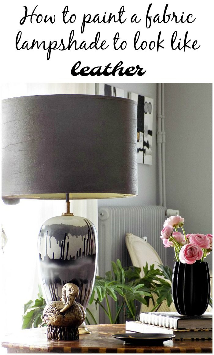 how-to-paint-a-fabric-lampshade-to-look-like-leather