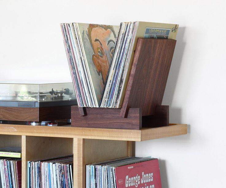 17 meilleures id es propos de stockage de disque vinyle for Meuble pour tourne disque