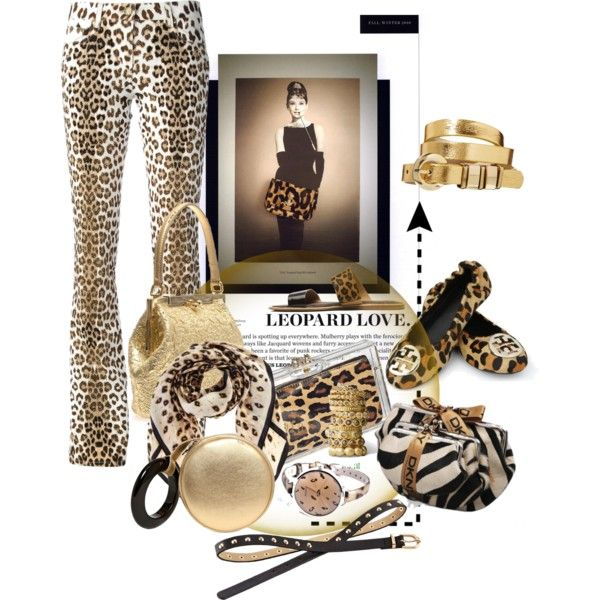 """Accessorize with Leopard Print & Gold"" by betiboop8 on Polyvore"