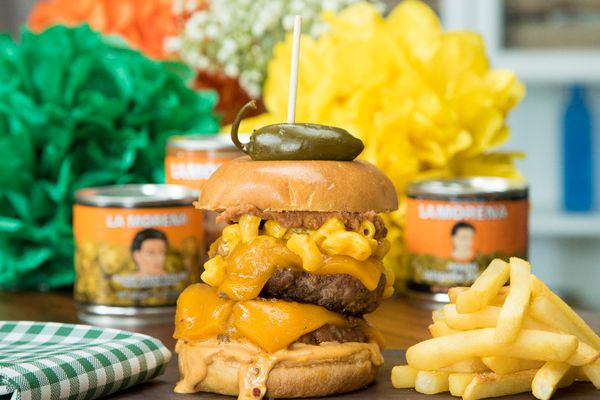 Can you handle this? Can you handle the La Morena Epic Stacked Burger? It's gonna rock your world!Click ...