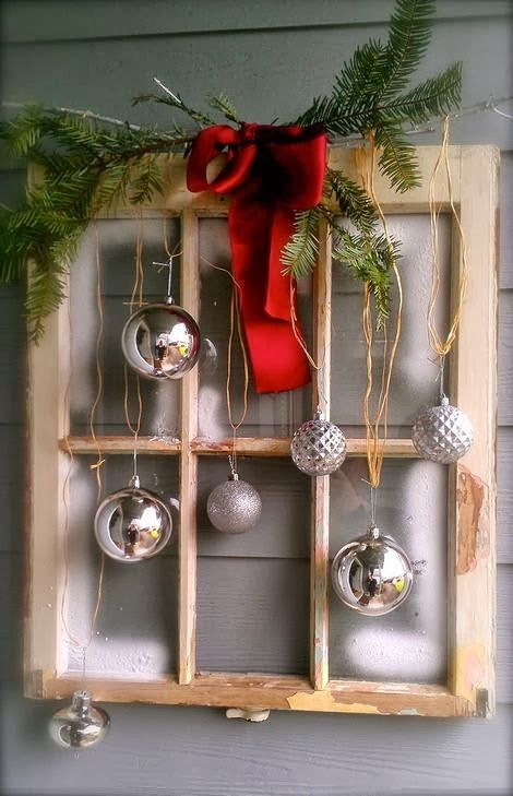 old windows hristmas | ... layer them with different sizes and hues to create a holiday effect