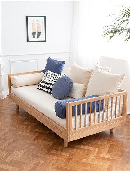 Bett PURE aus Eichenholz von Nobodinoz in 2020   Bett ...
