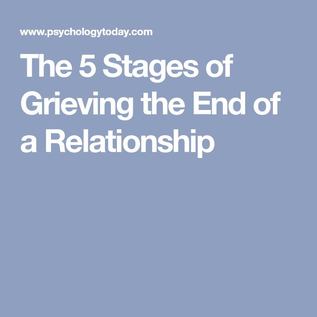 5 stages of ending a relationship