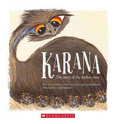 These are my chicks. I love them a lot...  I will stay with them, no matter what! This is the story of Karana, the father emu. Karana cares for his chicks and teaches them everything they need to know to survive in the bush.