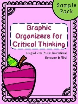 This sample pack contains five graphic organizers that I have custom designed for use in an ESL or international classroom. The graphic organizers promote critical thinking skills for intermediate to advanced readers and writers. They require that a student begin to think about the choices that writers make and how this impacts the reader.