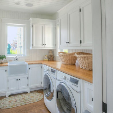 Wood block counter laundry room mudroom pinterest for Mudroom sink ideas