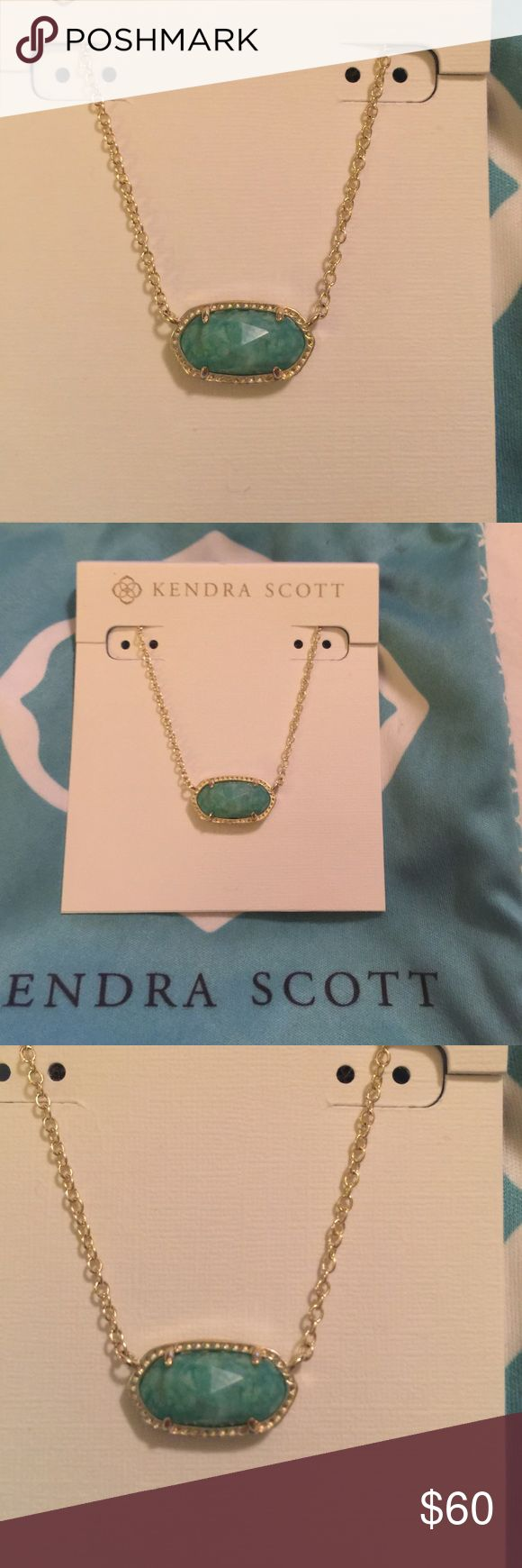 Kendra Scott Elisa Kendra Scott Elisa pendent in gold and amzonite Kendra Scott Jewelry Necklaces