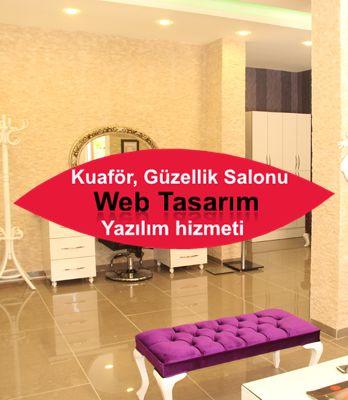 Kuaför Güzellik Salonu Sitesi Web Tasarım hizmeti