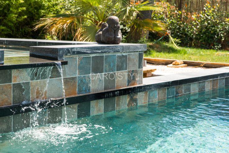 Très belle piscine en carrelage Green Bali Ce carrelage existe en