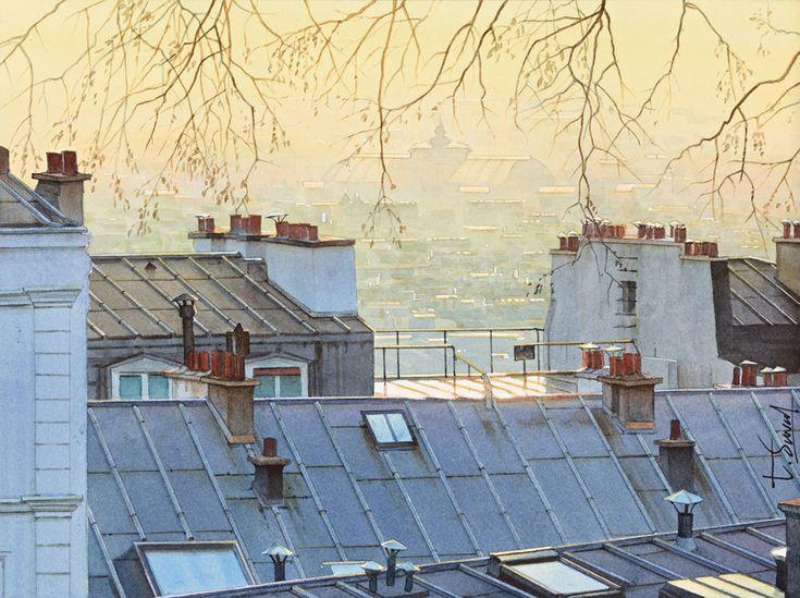Crépuscule sur les toits de Paris- Thierry Duval                                                                                                                                                                                 Plus