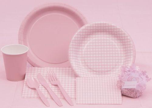 Pink Gingham Tableware