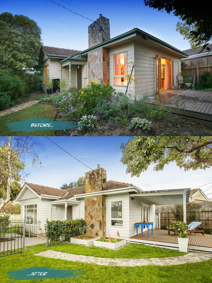 Home exterior before and after on Romona Sandon Designs blog. #interiors #beforeandafter #styling #exterior #home