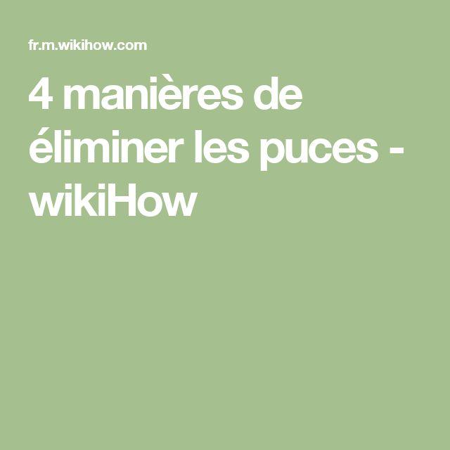 4 manières de éliminer les puces - wikiHow