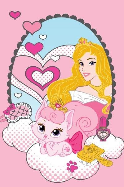 Kąpielowe ręczniki dla dzieci różowe z księżniczką