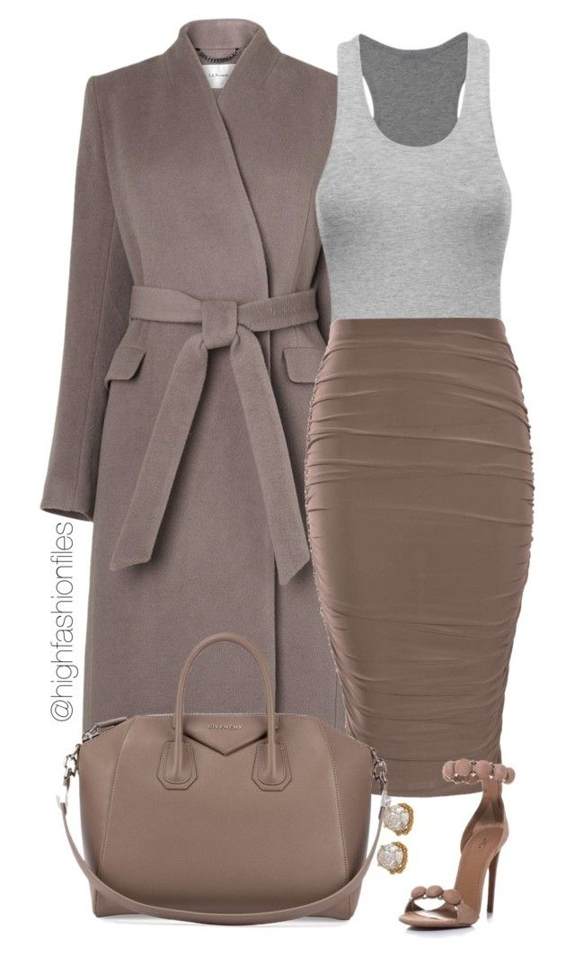 """""""Cool Tones"""" by highfashionfiles ❤ liked on Polyvore featuring L.K.Bennett, Givenchy, Alaïa and ABS by Allen Schwartz"""