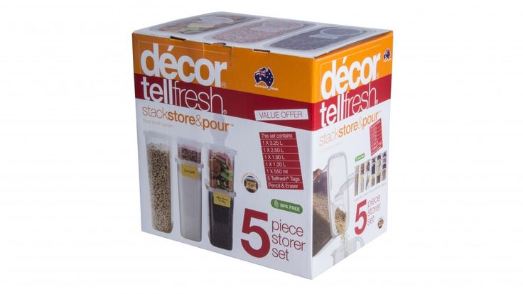 Decor Tellfresh Stack, Store and Pour - BiG BUYS - Storage | Harvey Norman Australia