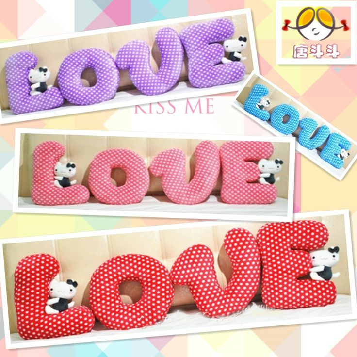 72 best Letter pillows images on Pinterest   Fabric ...