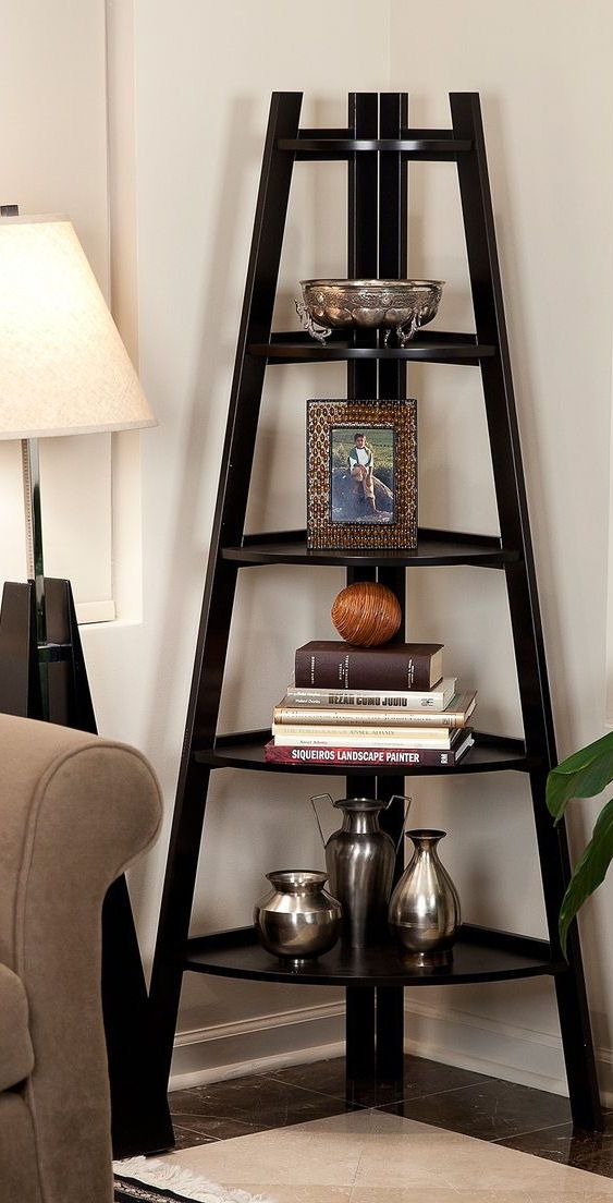 Five-Shelf Corner Display Stand //