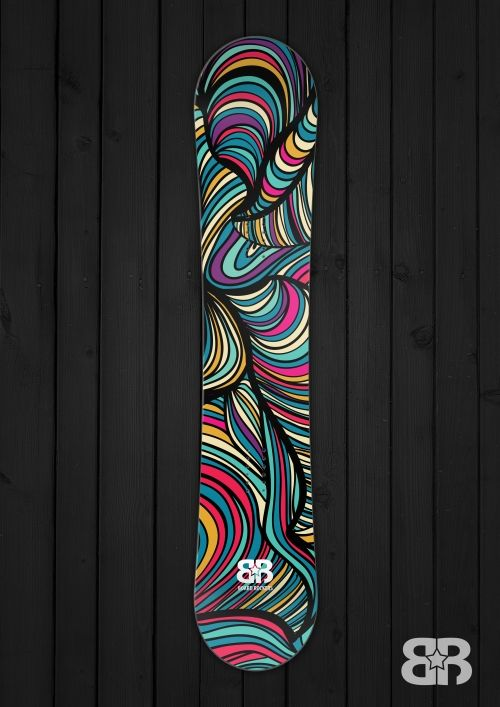 Gliuk - Snowboard wrap by Board Rockers