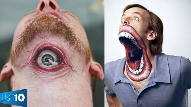 OMG!That mouth lol! 10 Craziest Tattoos People Had The Guts To Get http://outlineink.com/