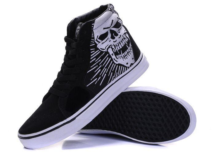 Vans Sk8-Hi Skull Black #Vans | Vans