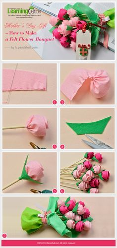 Mother's Day Gift – How to Make a Felt Flower Bouquet from LC.Pandahall.com