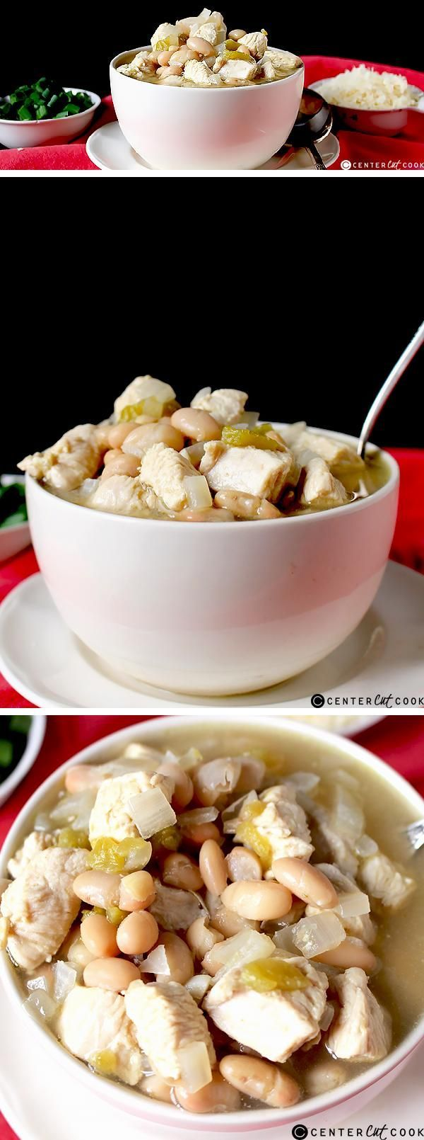 This WHITE CHICKEN CHILI is easy, quick, and so delicious! A great weeknight meal that is comforting and healthy.