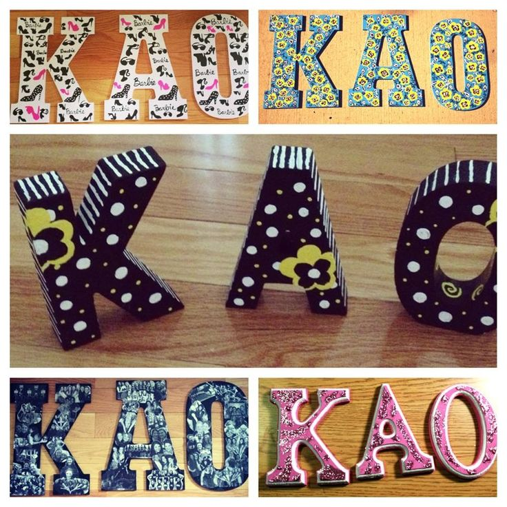 Sorority craft. Kappa Alpha Theta Letters