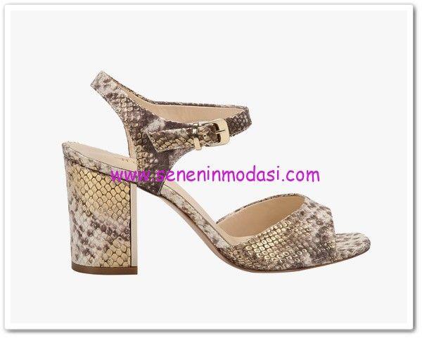 Hotiç 2015 yılan baskılı topuklu ayakkabı