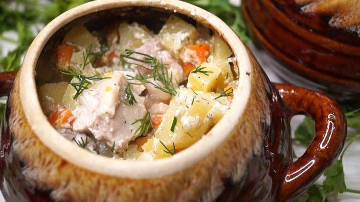 Блюдо в горшочке без возни «проще не бывает»