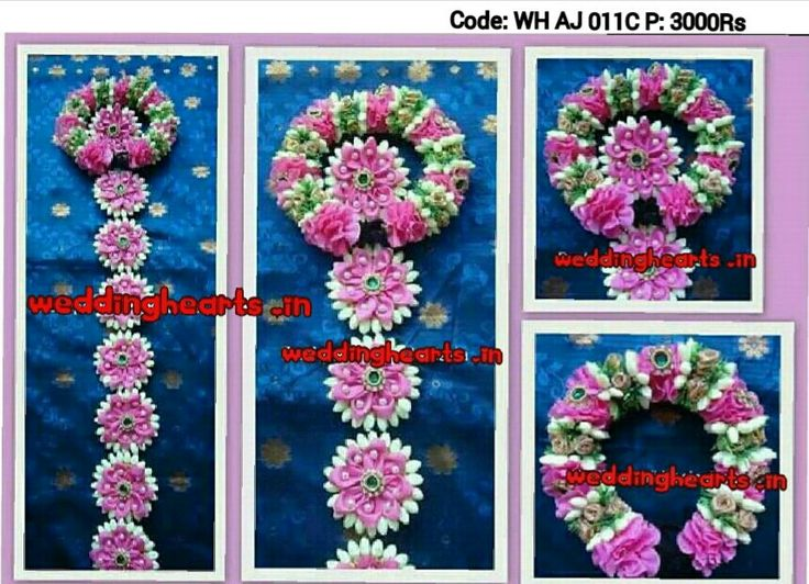 Artificial flower bridal hairstyle/ Artificial flower poolajada billalu. Code:WH AJ 011 C.Price : 3000Rs. Beautifully handmade with very intricate designer work embellished with artificial white jasmine buds,pink satin flowers and kundan applique.Make your weddings and occasions special with these hairstyles.Call or whatsapp @7093192088.Customised and personalised according to the matching colour of wedding Saree /outfit.